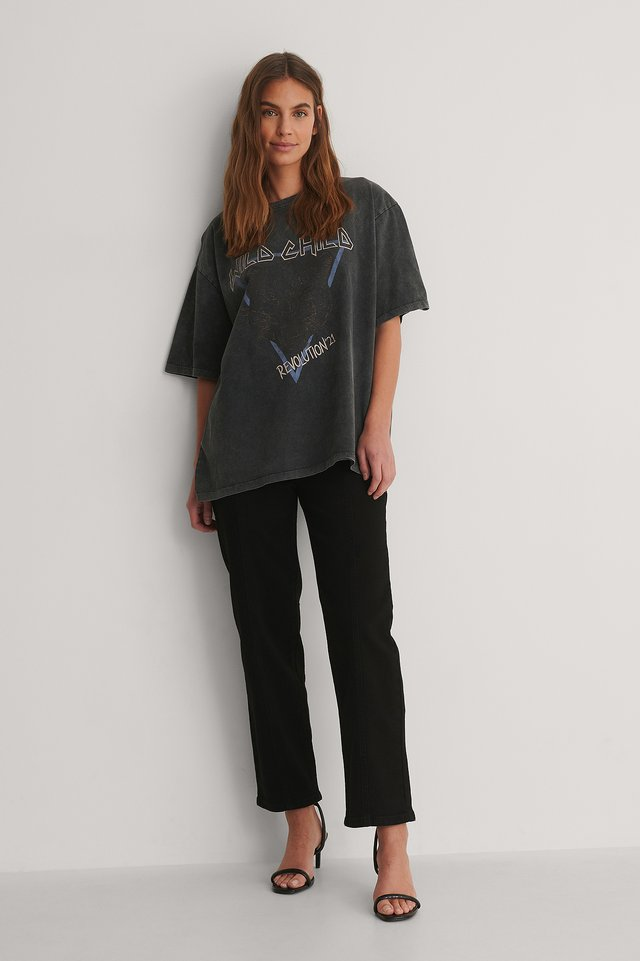 Wild Child Printed Tee Outfit.