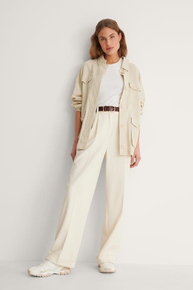 Linen Blend Overshirt Outfit