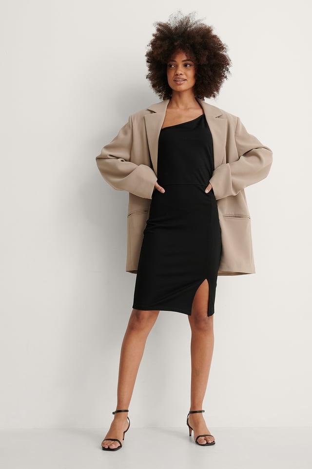 Asymmetric Thin Strap Short Dress
