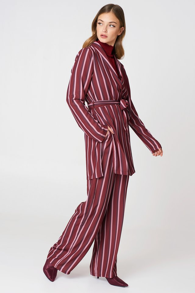 Striped Red Blazer