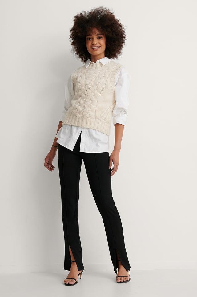 White Økologisk Oversize Skjorte