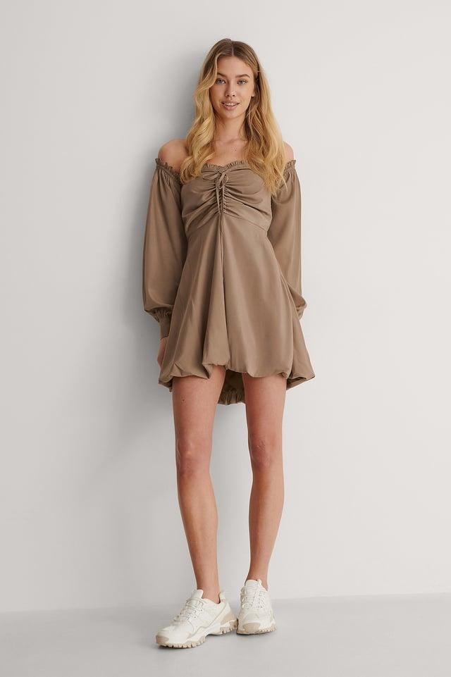 Off-Shoulder Puff Dress