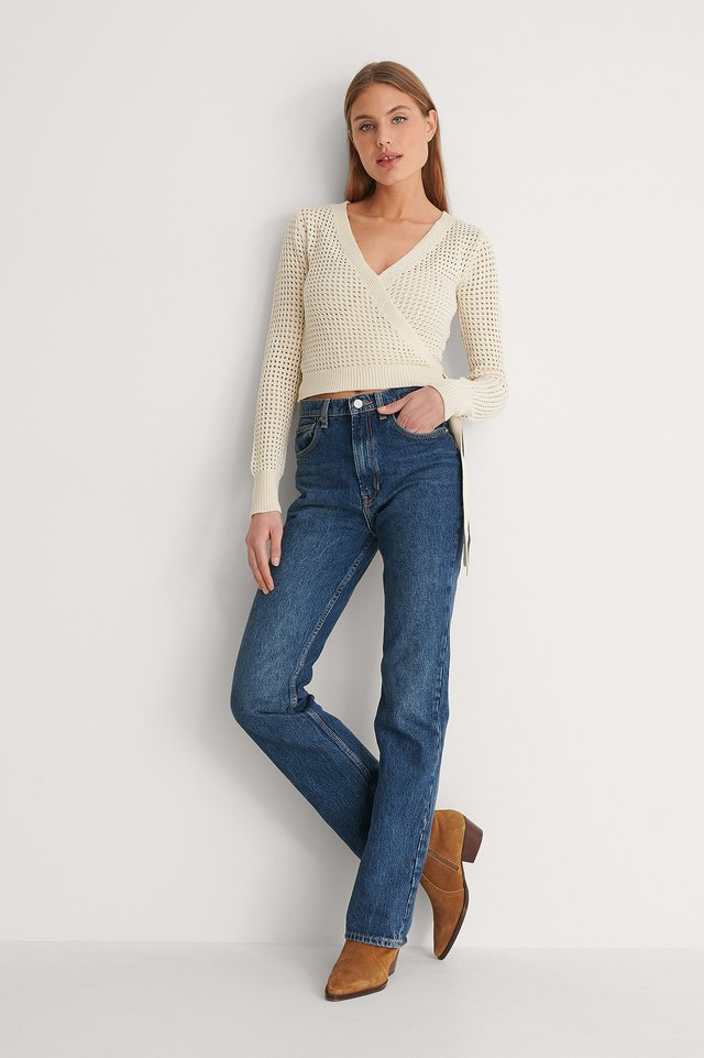 Overlap Hold Knitted Sweater