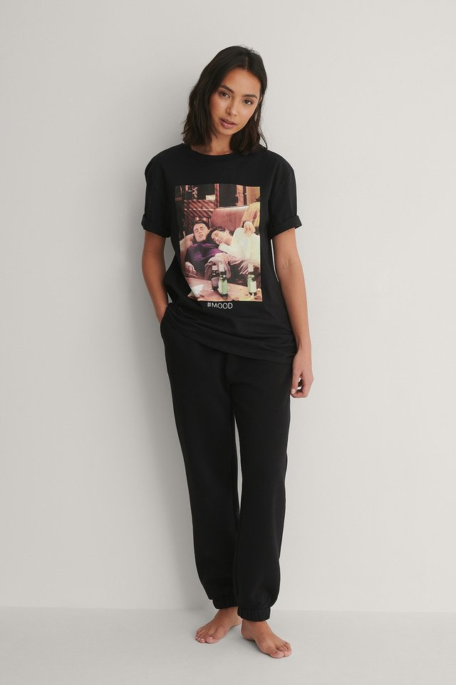 Unisex Tee and Sweatpants Outfit.