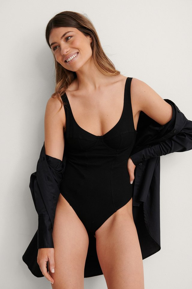 Cup Shape Ribbed Low Back Body