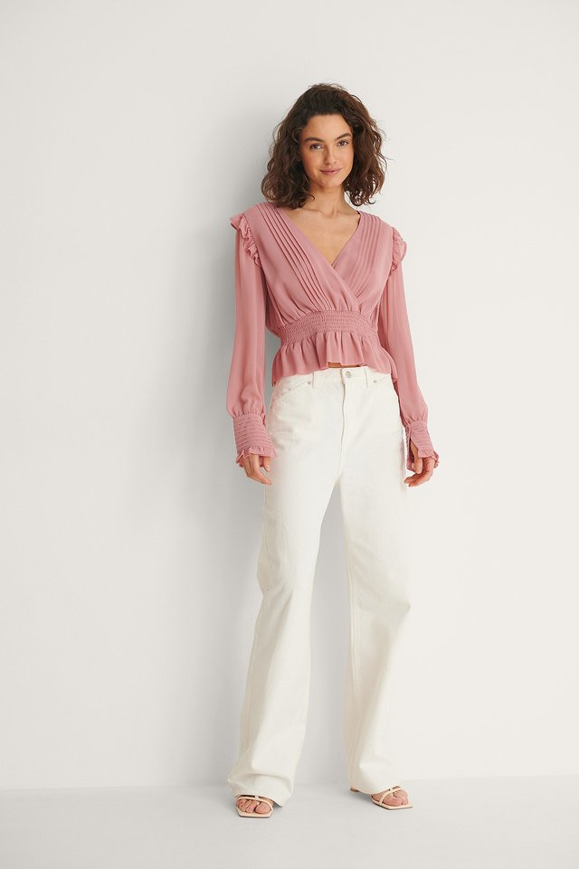 Recycled Pintucked Blouse