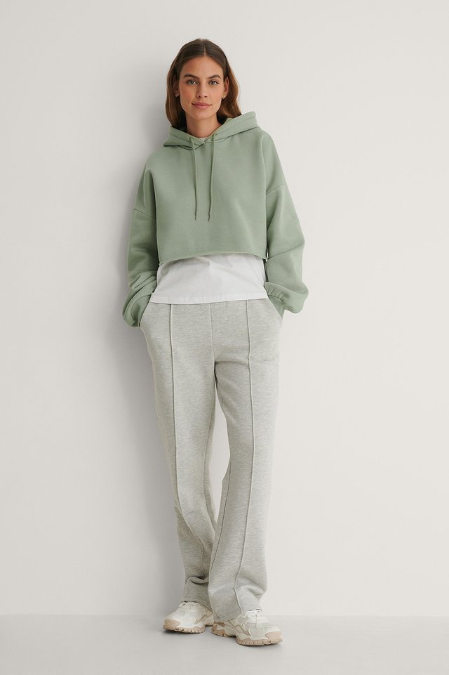 Organic Raw Edge Hoodie Outfit