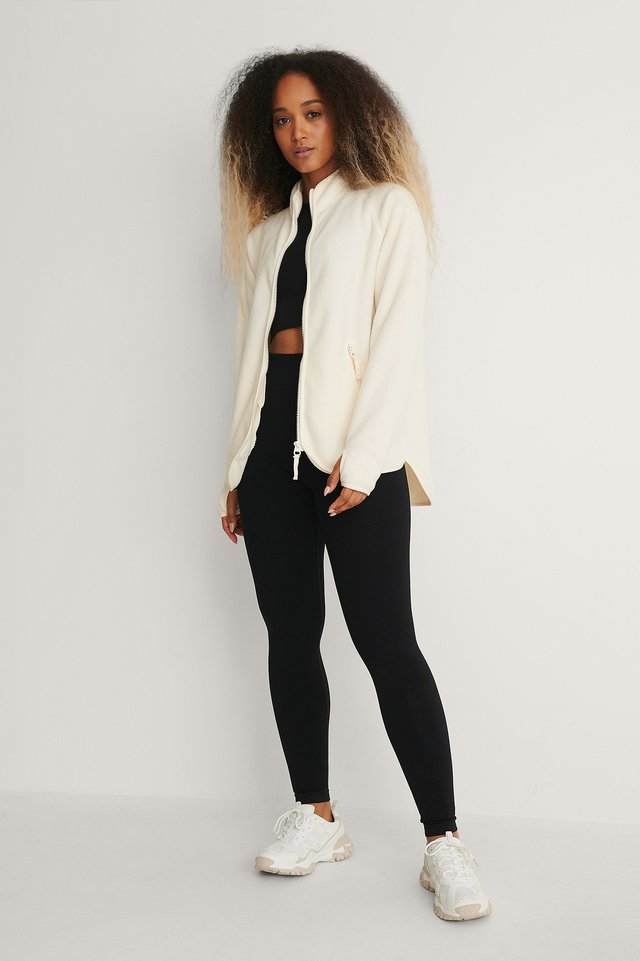 Fleece Zip Up Jacket Outfit.
