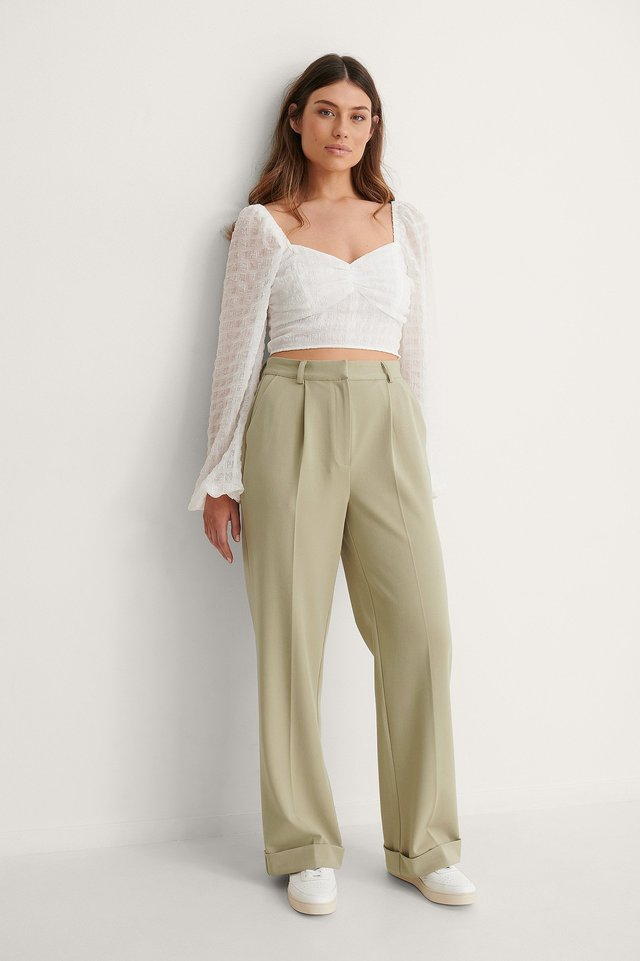 Structured Crop Blouse Outfit