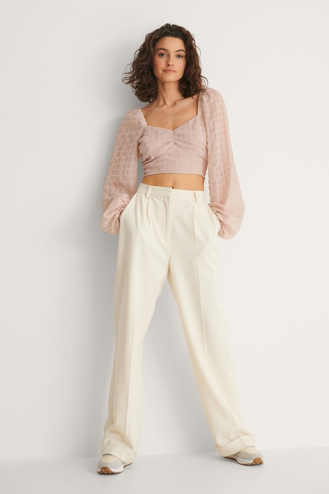 Structured Crop Blouse
