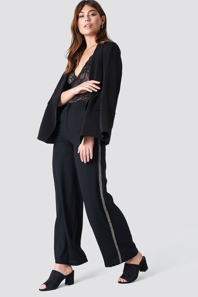 Embellished Side Stripe Pants