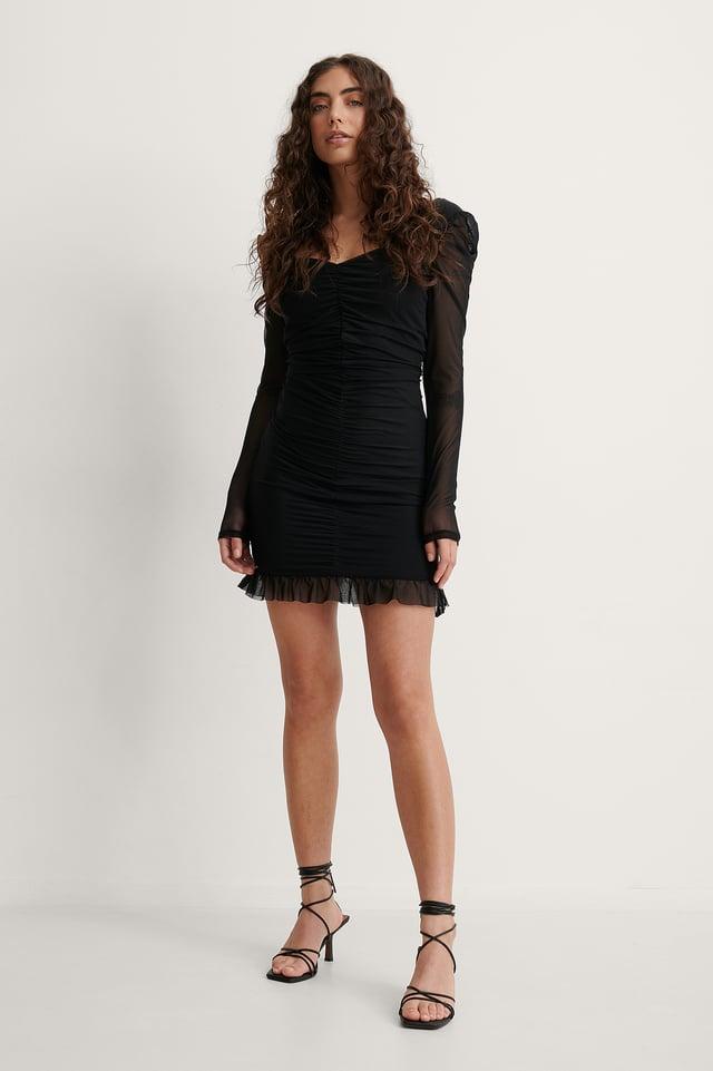 Melissa Heart Shaped Neckline Dress Outfit.