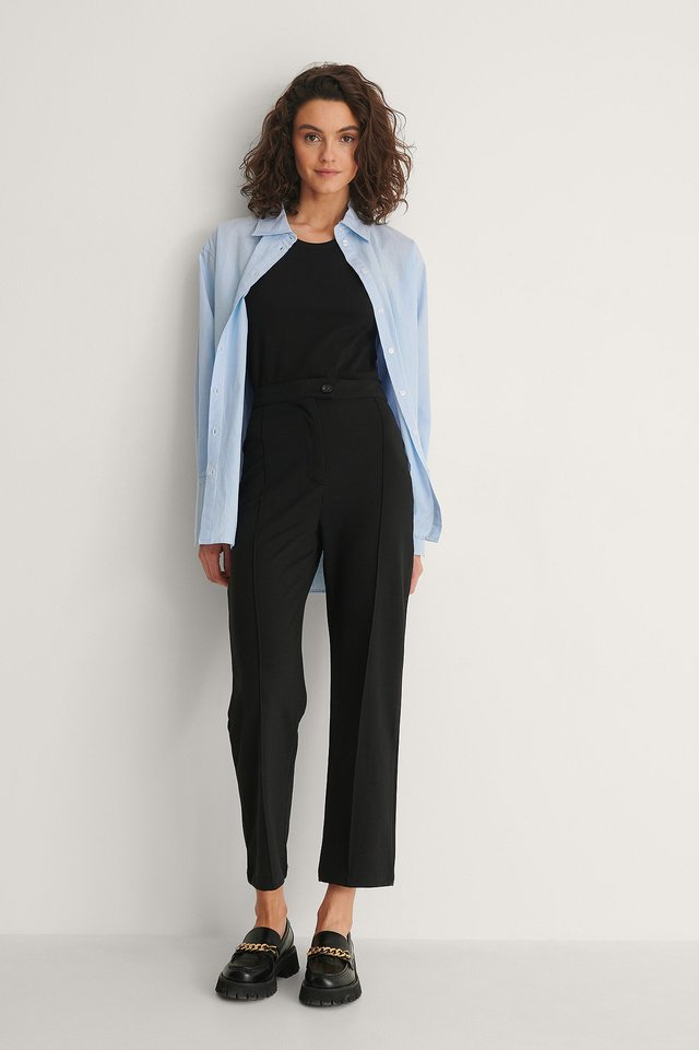 Front Seam Pants Outfit.