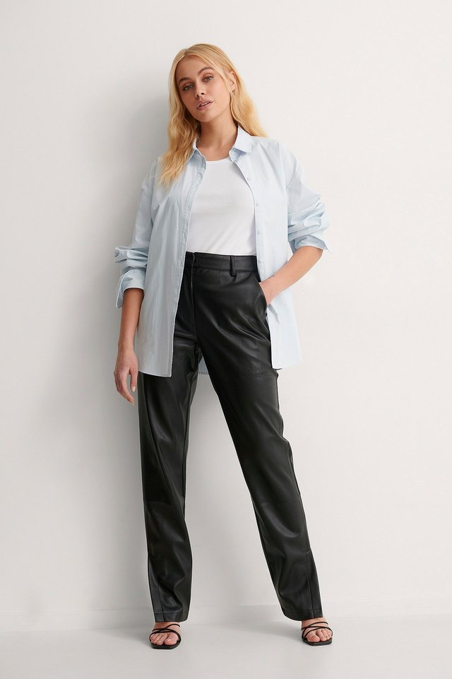 Side Slit Suit Pants