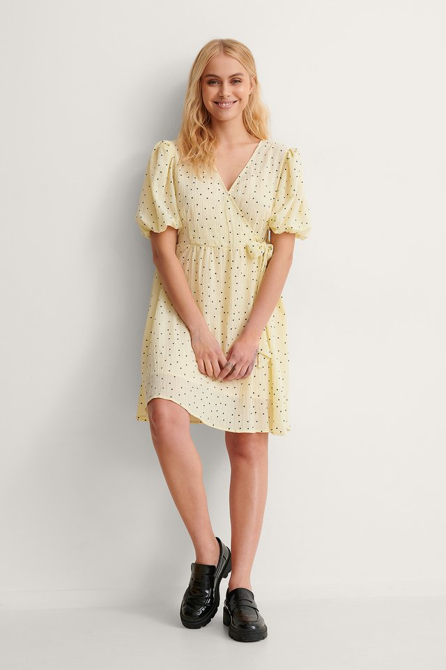 Dotted Overlap Dress