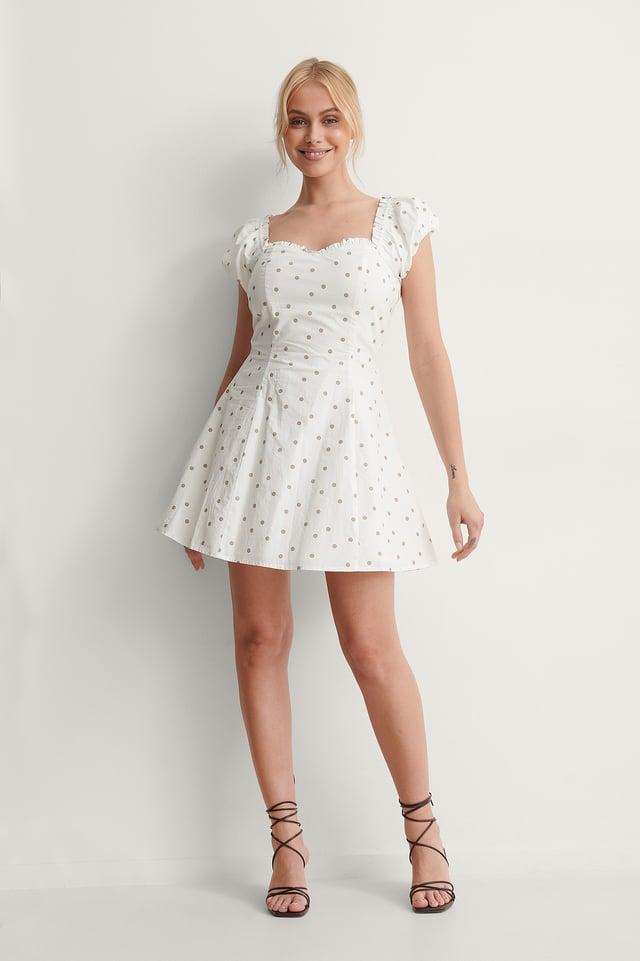 Azizam Dotted Mini Dress