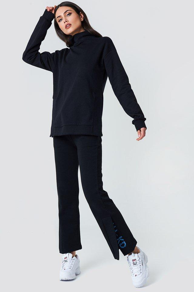 Slit Embroidery Sweatpants
