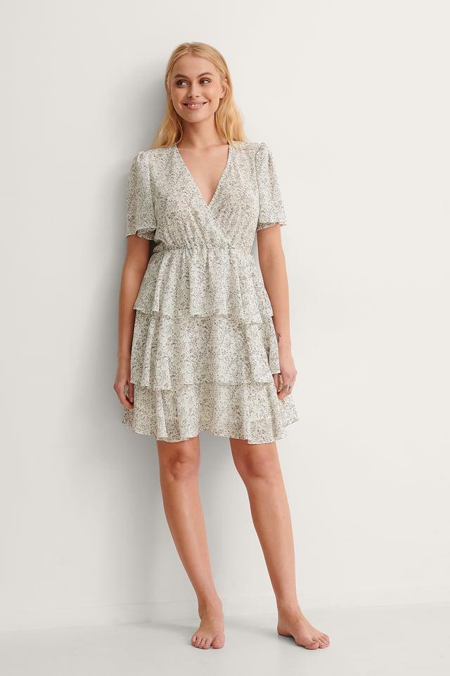 Black Asymmetric Thin Strap Short Dress