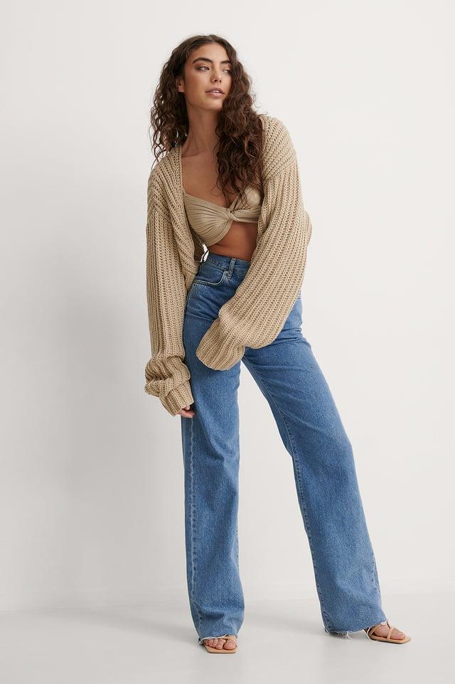 Knitted Bolero Cardigan