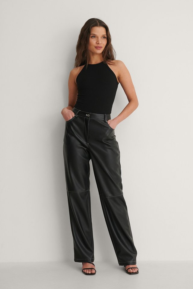 NAKD Recycled High Neck ribbed Body Outfit
