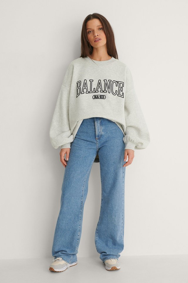 Balance Oversized Sweater Outfit.