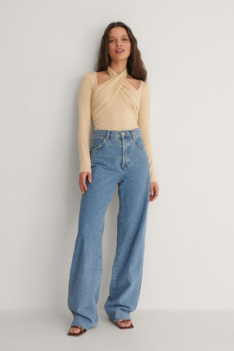 Halterneck Jersey Top Outfit.