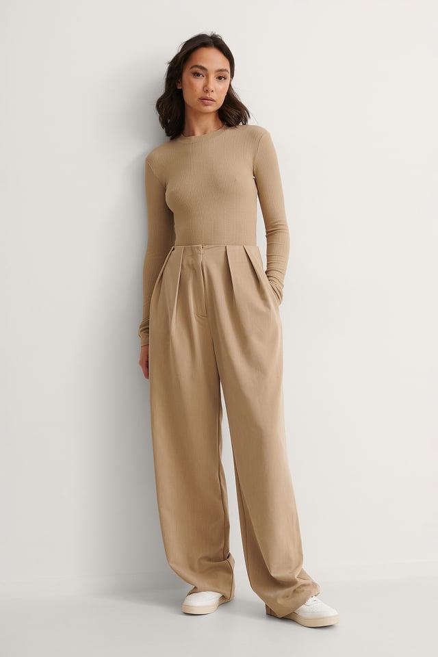 Rib Strap Detail Body Outfit