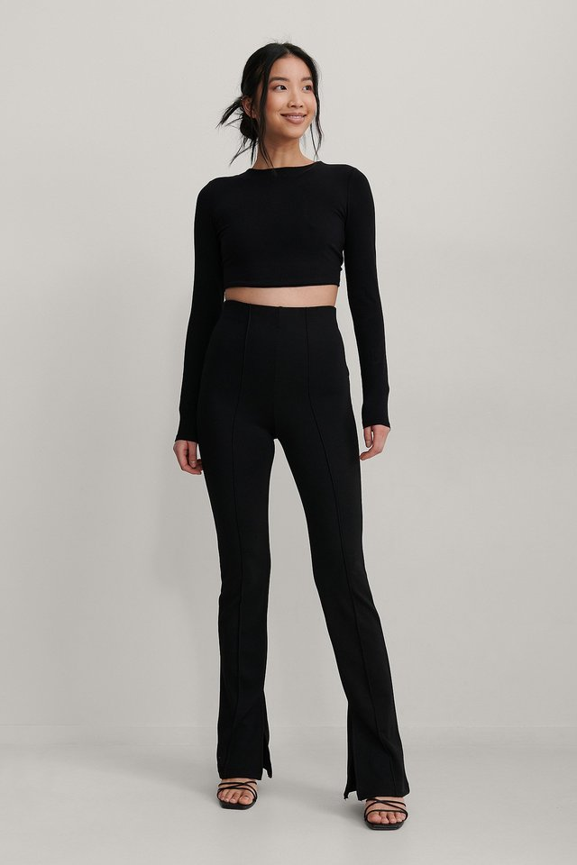 Black Knot Back Detail Top
