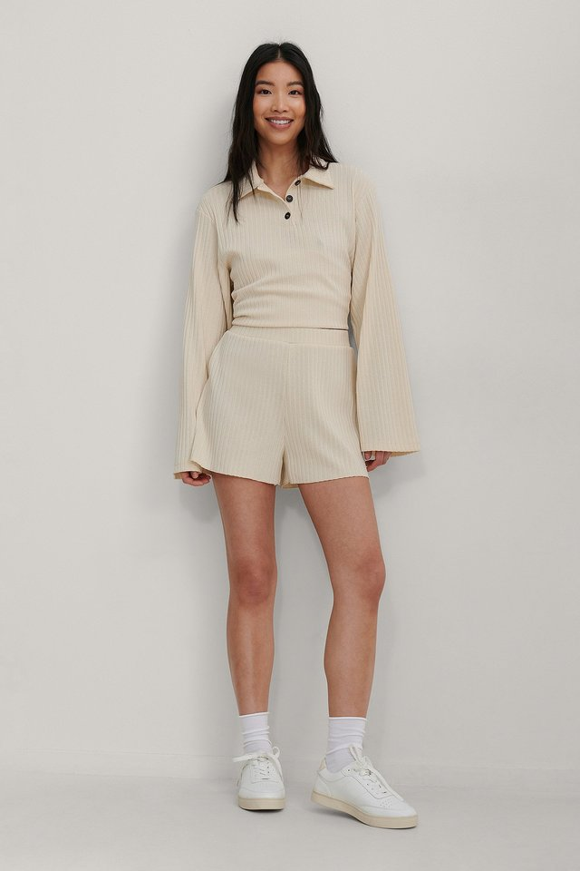 Ribbed Mini Shorts