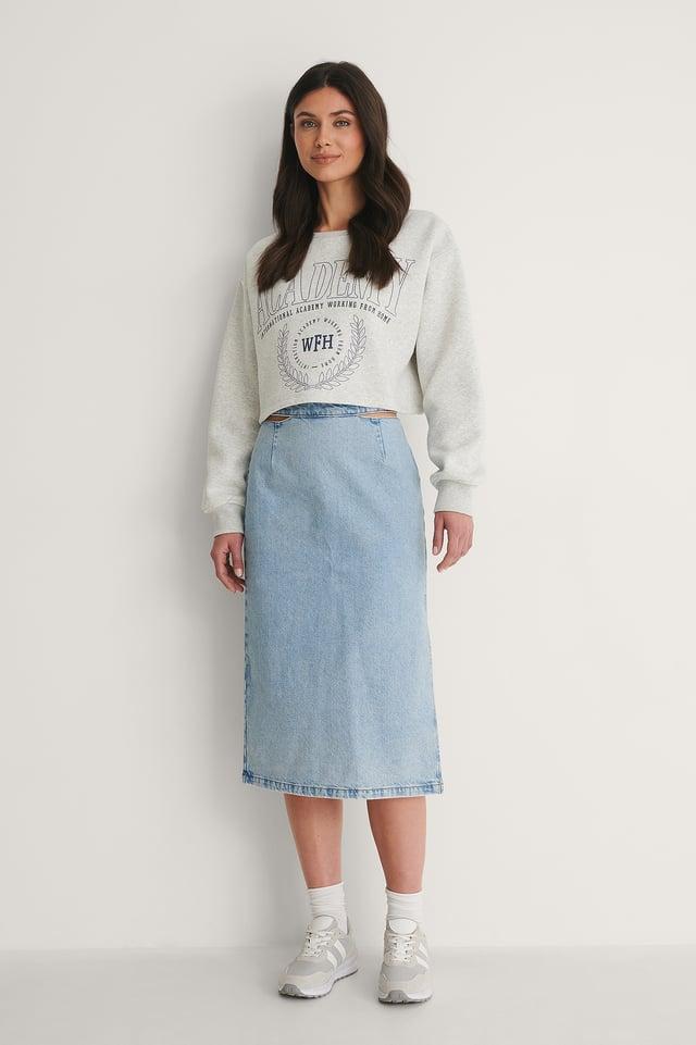 Grey Melange Ekologisk Sweatshirt