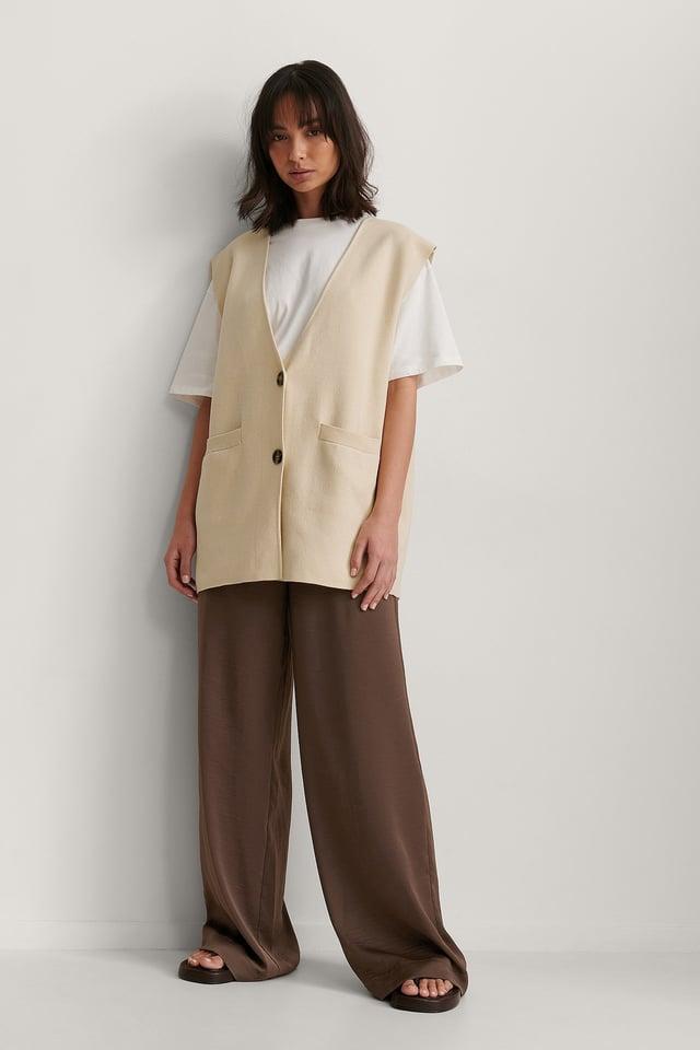 Oversized Knitted Vest