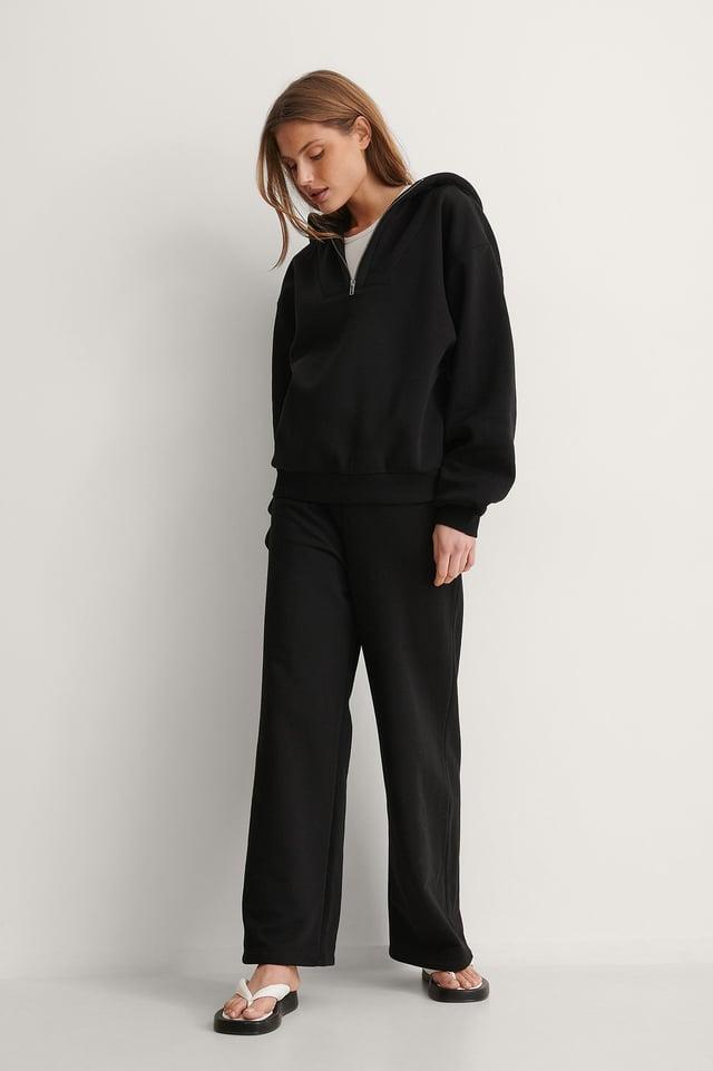 Zip Detail Hoodie Outfit