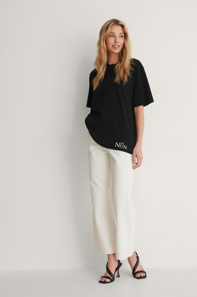NA-KD Unisex Printed Tee Outfit