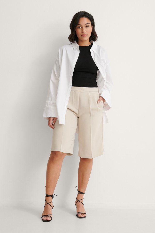 NA-KD Recycled Round Neck Ribbed Top Outfit