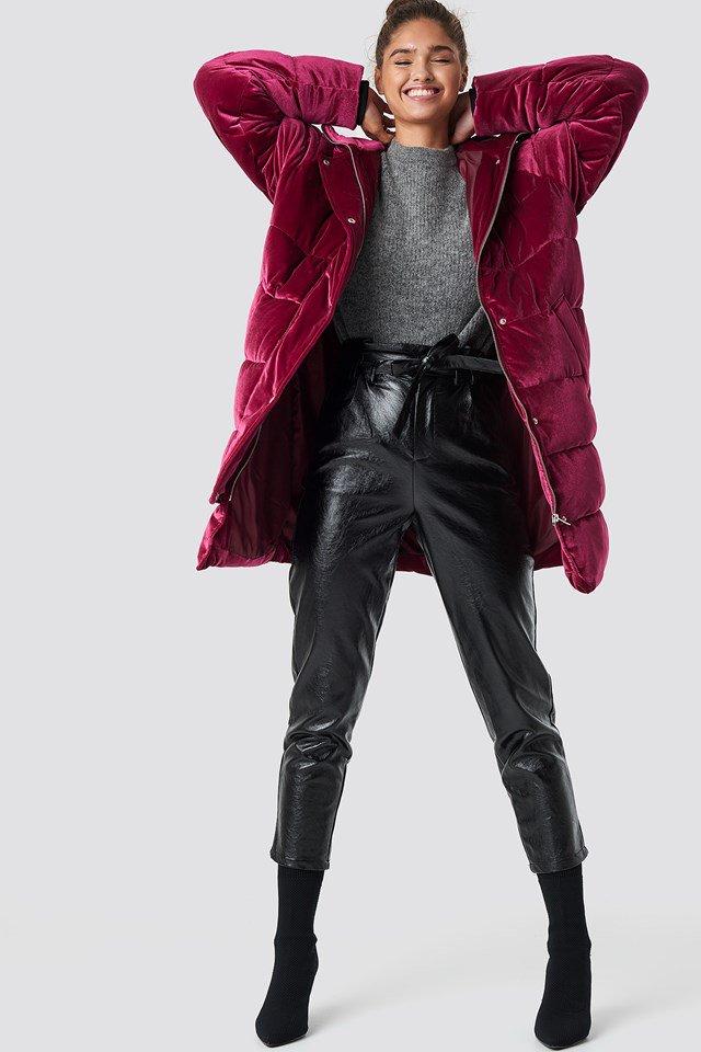 Velvet Padded Jacket Outfit
