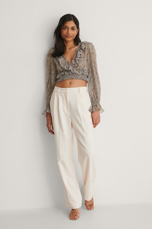 Cropped Flounce Is Blouse