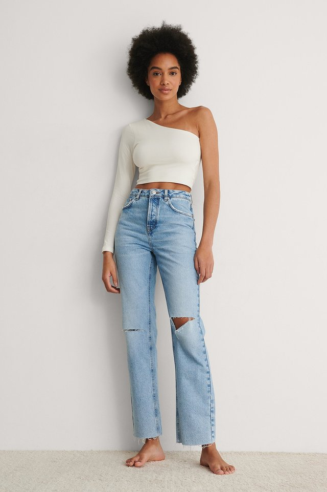 One Shoulder Top Outfit