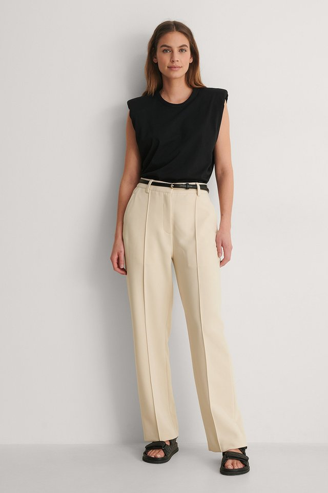Pintucked Pants Outfit