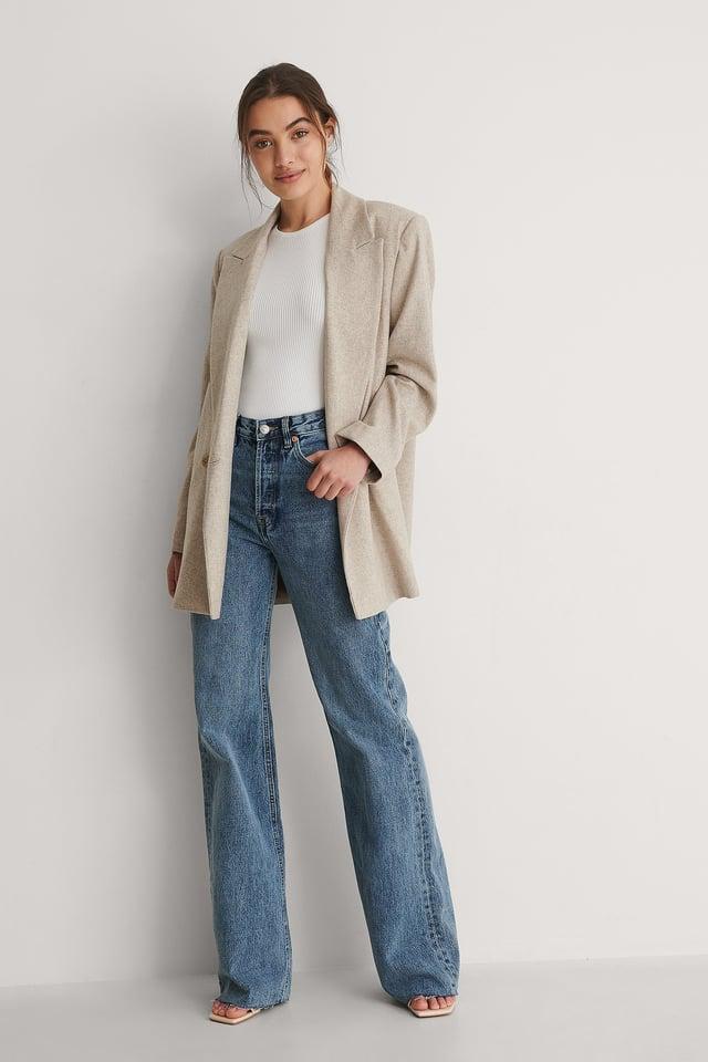 Mango Adriana Jeans Outfit