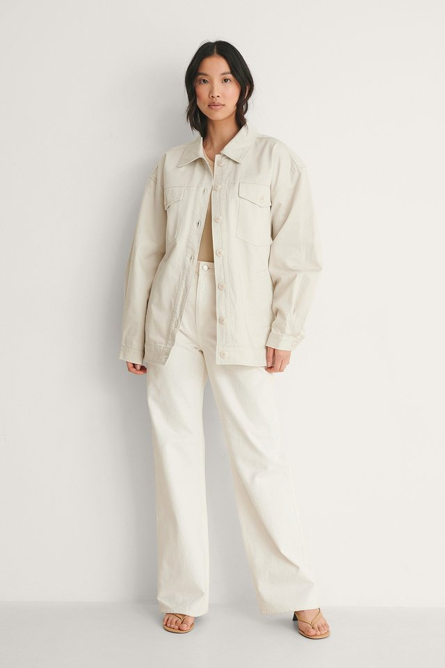 NA-KD Cotton Belted Cargo Jacket Outfit
