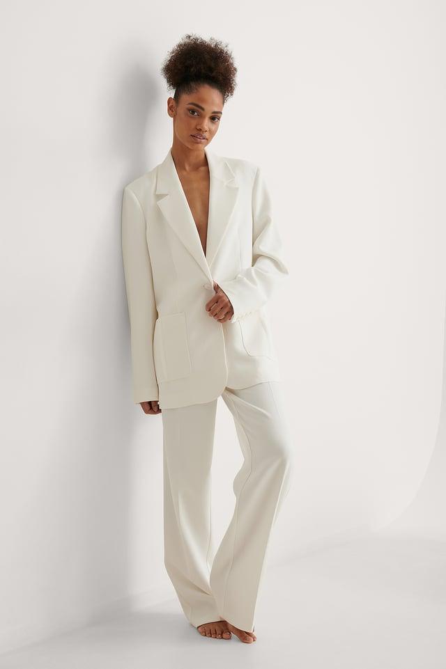 NA-KD Oversized Boxy Blazer Outfit