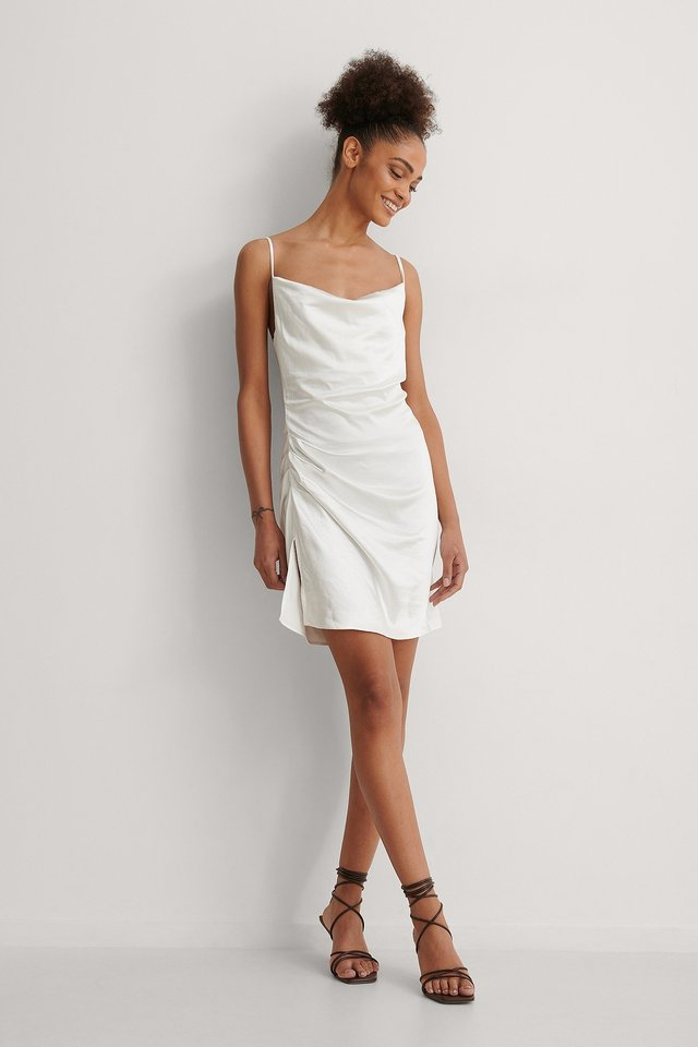 NA-KD Waterfall Draped Mini Dress