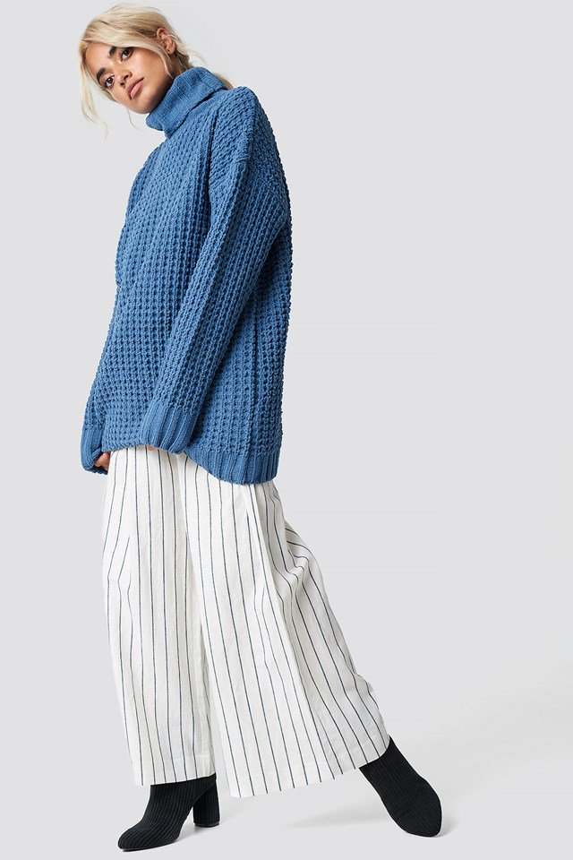 Blue and White Oversized Outfit
