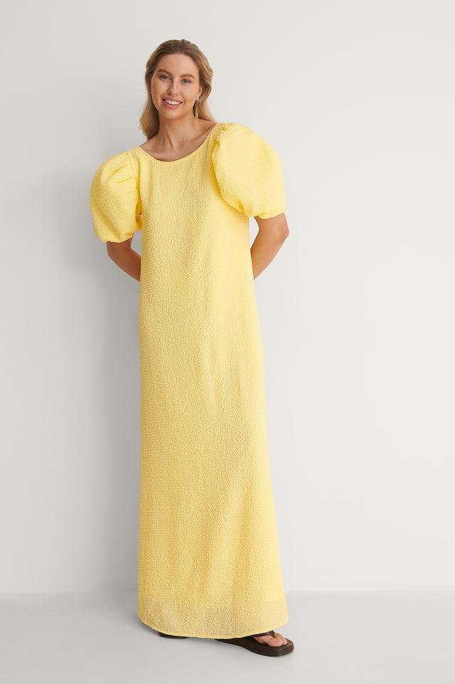 Deep Back Maxi Dress Outfit.