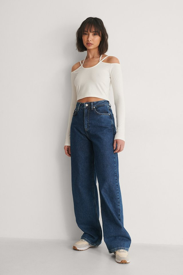 Shoulder Knot Detail Top Outfit