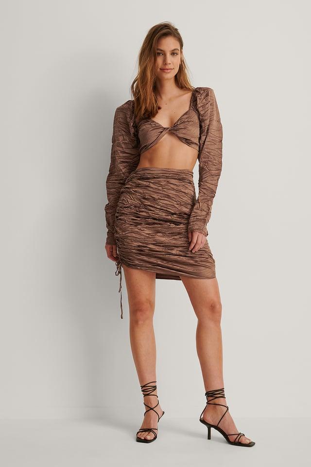 Pleated Draped Skirt