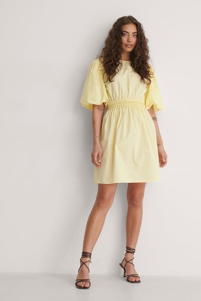 Back Detail Mini Dress Outfit.