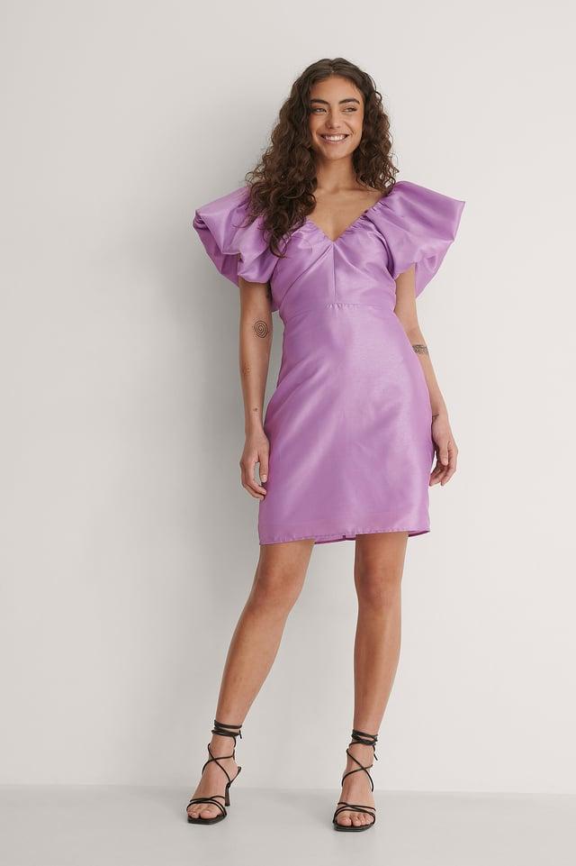 Sharp Shoulder Mini Dress Outfit.