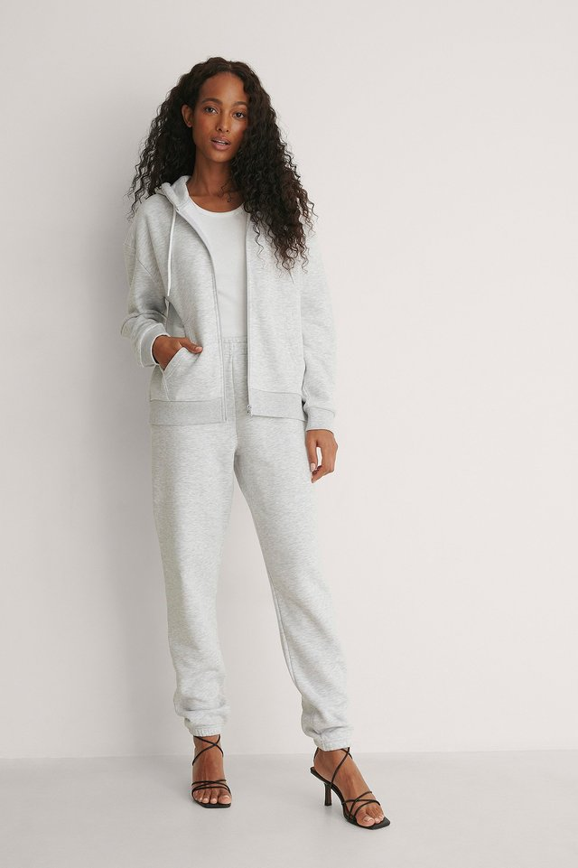 Front Pocket Zip Sweater Outfit