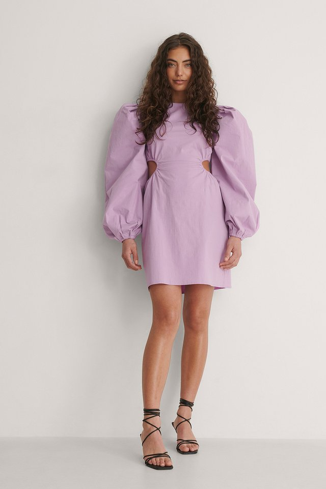 Volume Sleeve Dress Outfit.